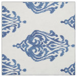 Cute blue and white damask ikat tribal patterns fabric