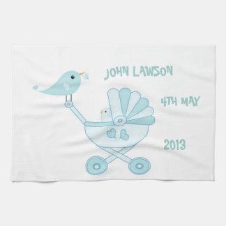 Cute Blue Baby Boy Kitchen Towel