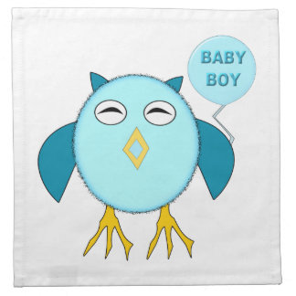 Cute Blue Baby Boy Party Napkin