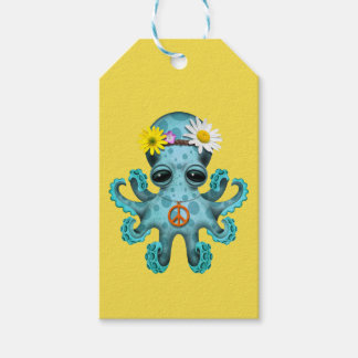 Cute Blue Baby Octopus Hippie Gift Tags
