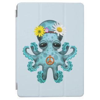 Cute Blue Baby Octopus Hippie iPad Air Cover