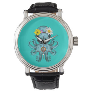 Cute Blue Baby Octopus Hippie Watch