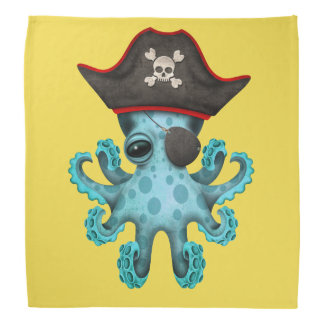 Cute Blue Baby Octopus Pirate Bandana
