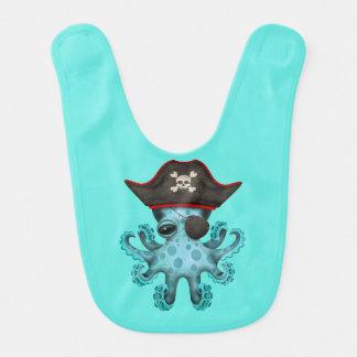 Cute Blue Baby Octopus Pirate Bib