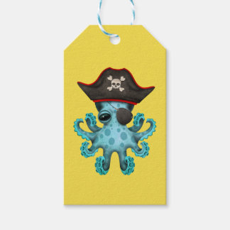 Cute Blue Baby Octopus Pirate Gift Tags