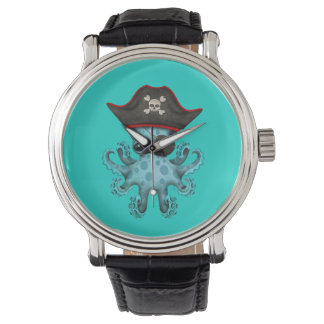 Cute Blue Baby Octopus Pirate Watch