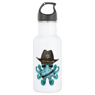 Cute Blue Baby Octopus Sheriff 532 Ml Water Bottle