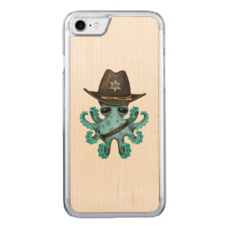 Cute Blue Baby Octopus Sheriff Carved iPhone 8/7 Case