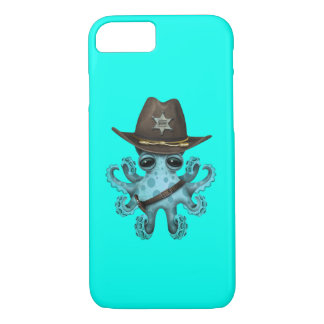 Cute Blue Baby Octopus Sheriff Case-Mate iPhone Case