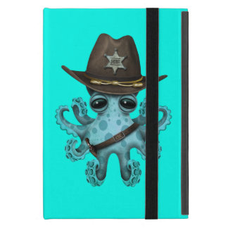 Cute Blue Baby Octopus Sheriff iPad Mini Cover