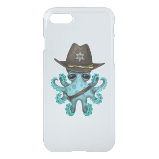 Cute Blue Baby Octopus Sheriff iPhone 8/7 Case