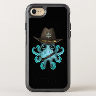 Cute Blue Baby Octopus Sheriff OtterBox Symmetry iPhone 8/7 Case