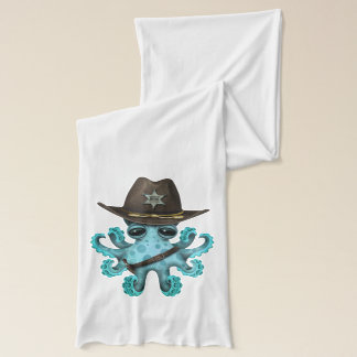 Cute Blue Baby Octopus Sheriff Scarf
