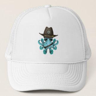 Cute Blue Baby Octopus Sheriff Trucker Hat
