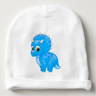 Cute Blue Baby Triceratops Dinosaur Baby Beanie
