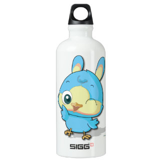 Cute Blue Bird Funny Cartoon Character Bottle