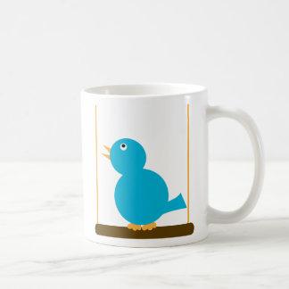 Cute Blue Bird on a Perch Mug