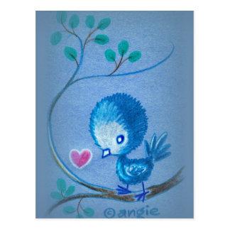 Cute Blue Bird Postcard