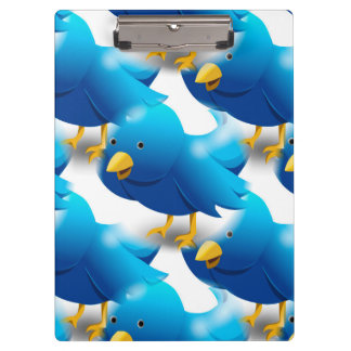 Cute Blue Birds Clipboard