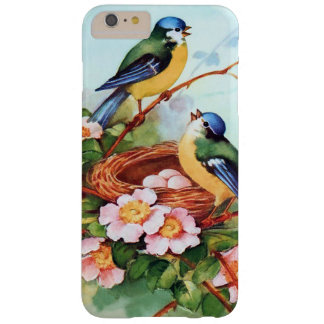Cute Blue Birds in Springtime Barely There iPhone 6 Plus Case
