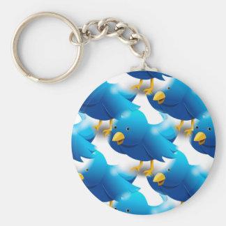 Cute Blue Birds Keychain