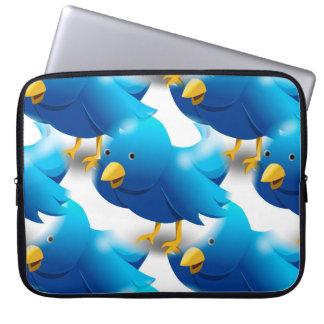 Cute Blue Birds Laptop Sleeve