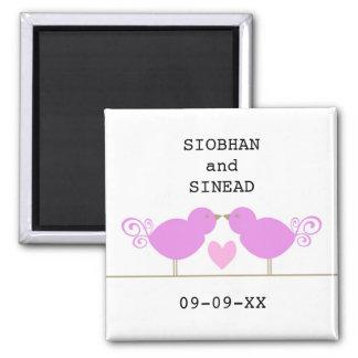 Cute Blue Birds Lesbian Special Date Magnet