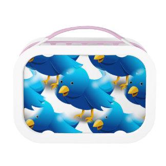 Cute Blue Birds Lunch Box