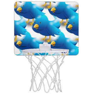 Cute Blue Birds Mini Basketball Hoop