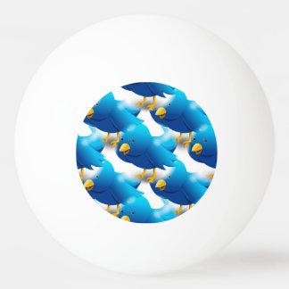 Cute Blue Birds Ping Pong Ball