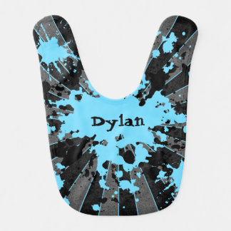 Cute blue black bib