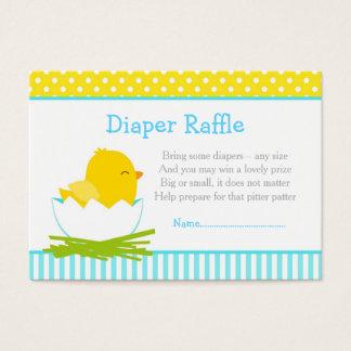 Cute Blue Boy Chick Diaper Raffle Business Card