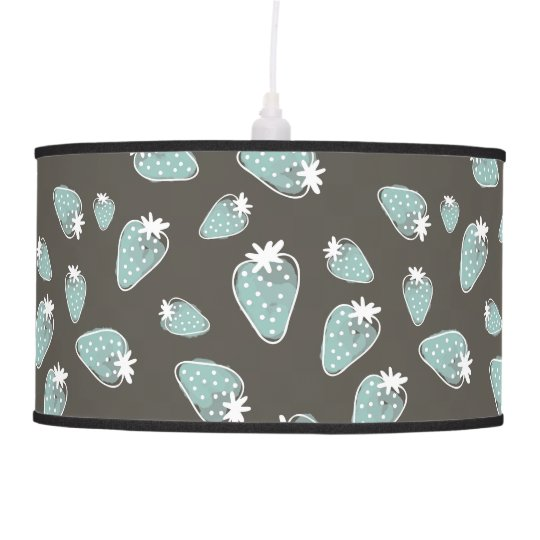 CUTE BLUE BROWN WATERCOLOUR STRAWBERRIES CEILING LAMPS