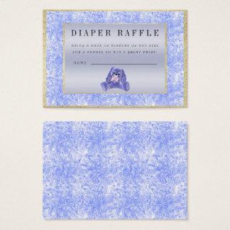 "Cute Blue Bunny ""Raffle"" Baby Shower Business Card"