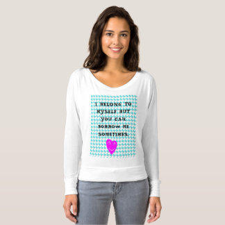 CUTE BLUE BUTTERFLIES AND PINK HEARTS T-SHIRT