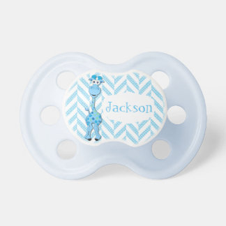 Cute Blue Cartoon Baby Giraffe Pacifier