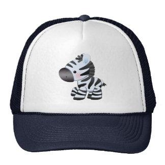Cute Blue Cartoon Zebra Trucker Hat