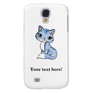 Cute blue cat cartoon