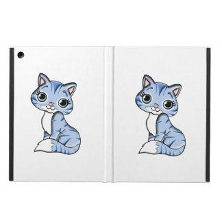 Cute blue cat cartoon iPad air cover