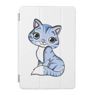 Cute blue cat cartoon iPad mini cover