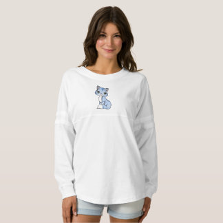Cute blue cat cartoon spirit jersey