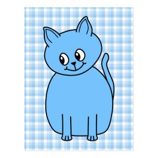 Cute Blue Cat. Postcard