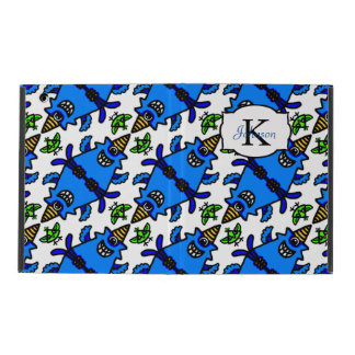 Cute Blue Cyclops Monster and Bird pattern Cover For iPad
