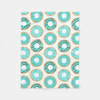 Cute Blue Donuts Pattern Fleece Blanket