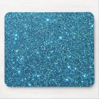 Cute Blue Glitter Sparkles Mouse Pad