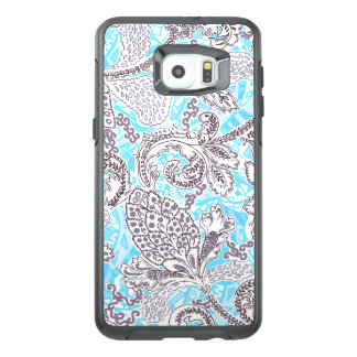 Cute blue gray classic floral