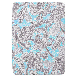 Cute blue gray classic floral iPad air cover