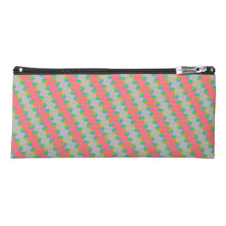 Cute Blue/Green Dots Pink Background Changeable Pencil Case