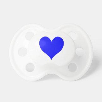 Cute Blue Heart Shape Pacifiers