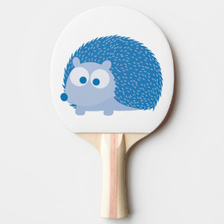 Cute Blue Hedgehog Ping Pong Paddle